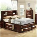 Crown Mark Emily King Captain's Bed - Item Number: B4255-K-HBFB+RAIL+DRW-L+DRW-R