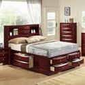 Crown Mark Emily Queen Captain's Bed - Item Number: B4265-Q-HBFB+RAIL+DRW-L+DRW-R