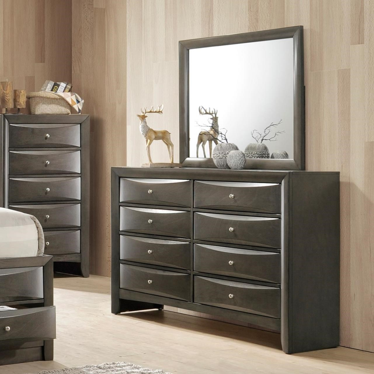 Crown Mark Emily Dresser and Mirror - Item Number: B4270-1+B4270-11