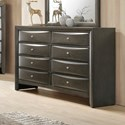 Crown Mark Emily Contemporary Dresser - Item Number: B4270-1