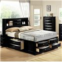 Crown Mark Emily King Captain's Bed - Item Number: B4285-K-HBFB+RAIL+DRW-L+DRW-R