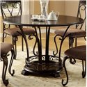 Crown Mark Emma Dining Table - Item Number: 1280T-48-TOP+LEG