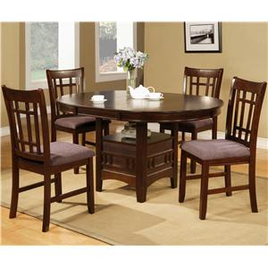 Crown Mark Empire 5 Piece Table & Chair Set