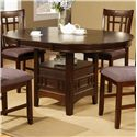 Crown Mark Empire 5 Piece Dining Table with 18