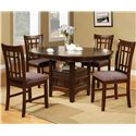 Crown Mark Empire Dining Side Chair with Upholstered Seat - Shown in Dining Set