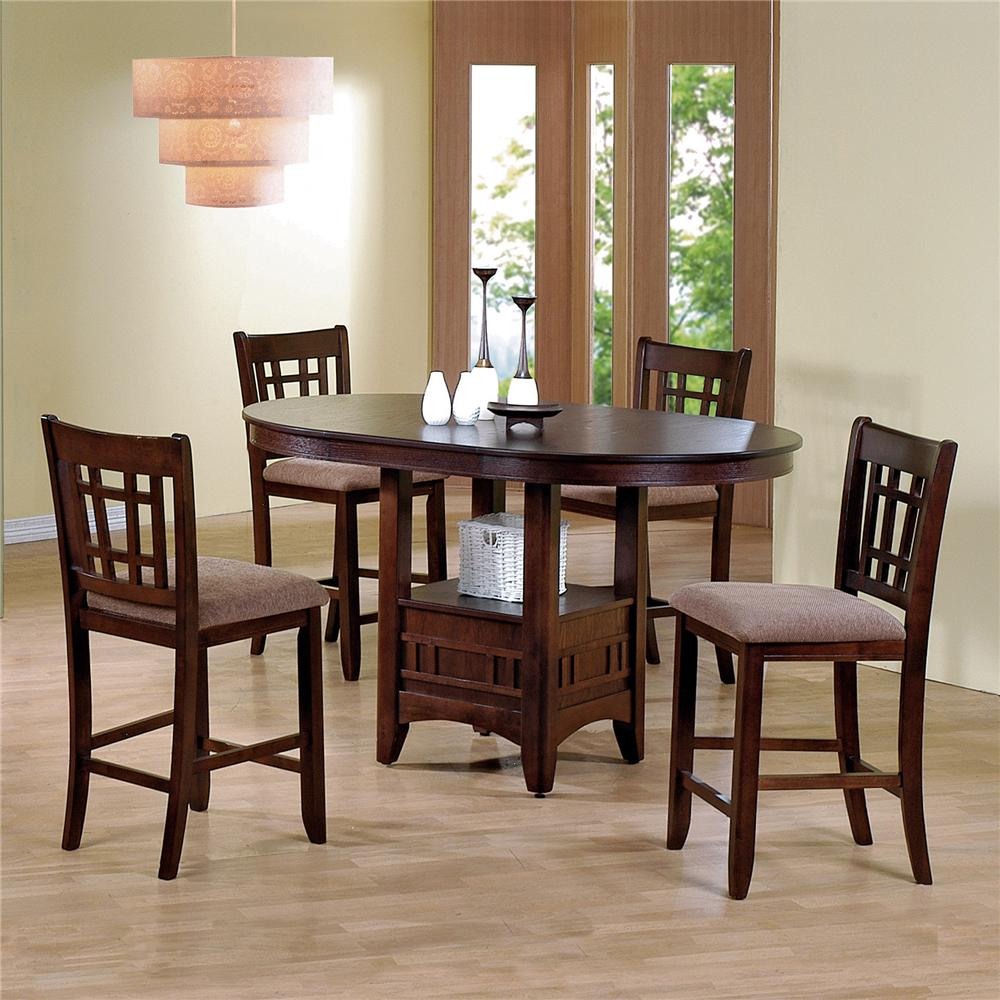 Crown Mark Empire Counter Height Dining Table And Chair Set   Item Number:  2185