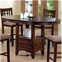 Crown Mark Empire  Counter Height Dining Table - Item Number: 2185-4260-TOP+LEG