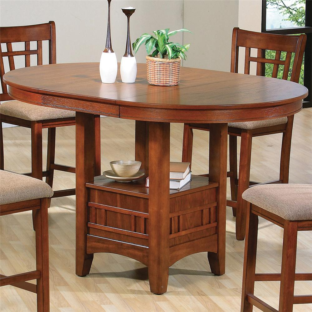 Crown Mark Empire Counter Height Dining Table   Item Number: 2185 OAK LEG