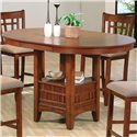 Crown Mark Empire Counter Height Dining Table - Item Number: 2185-OAK-LEG+TOP