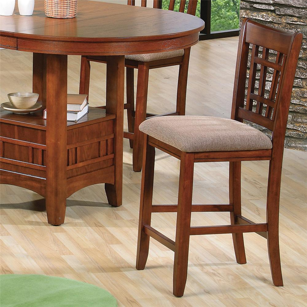 Crown Mark Empire Counter Height Side Chair - Item Number: 2185S-OAK