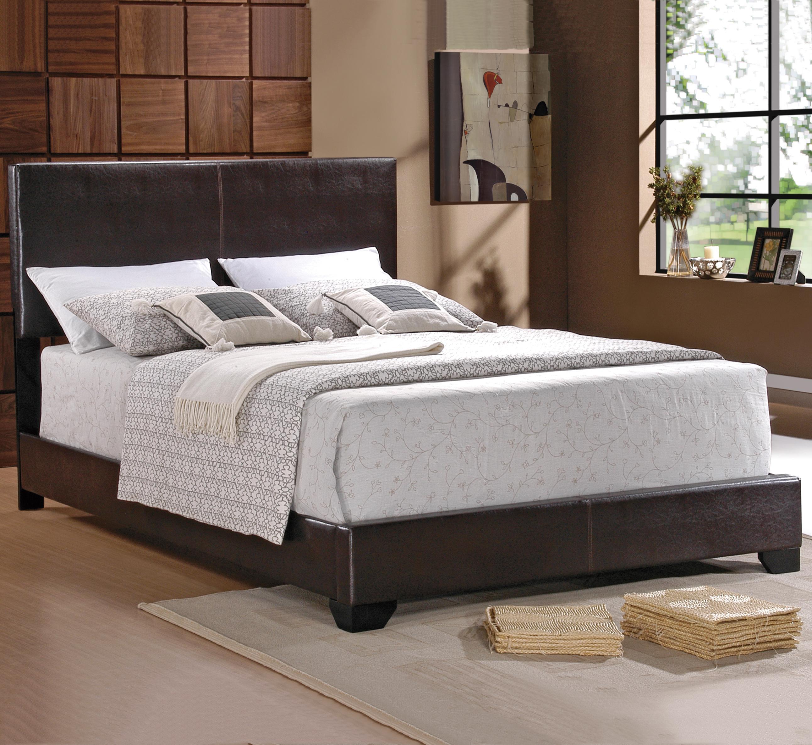 Crown Mark Erin Full Upholstered Platform Bed - Item Number: 5271-F-HB+FBRL
