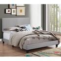 Crown Mark Erin King Upholstered Platform Bed - Item Number: 5271GY-K-NH