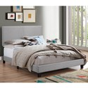 Crown Mark Erin Queen Upholstered Headboard Bed - Item Number: 5271GY-Q-NH