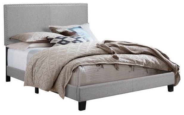 Twin Upholstered Headboard Bed