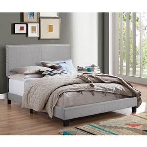 Crown Mark Erin Twin Upholstered Platform Bed