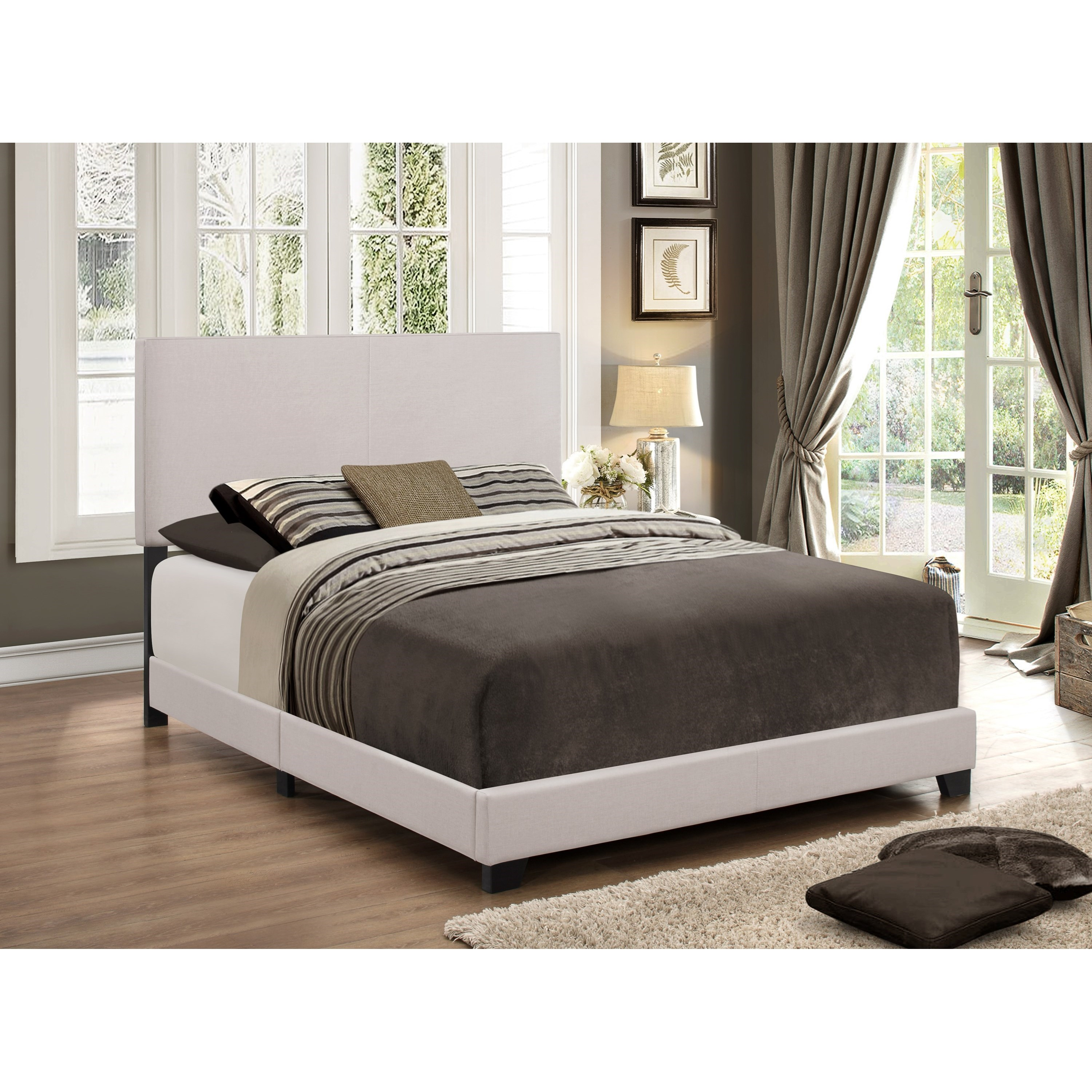 Crown Mark Erin Full Upholstered Platform Bed - Item Number: 5271KH-F