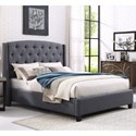 Crown Mark Eva Upholstered King Bed - Item Number: 5111GY-K-HBFB+KQ-RAIL