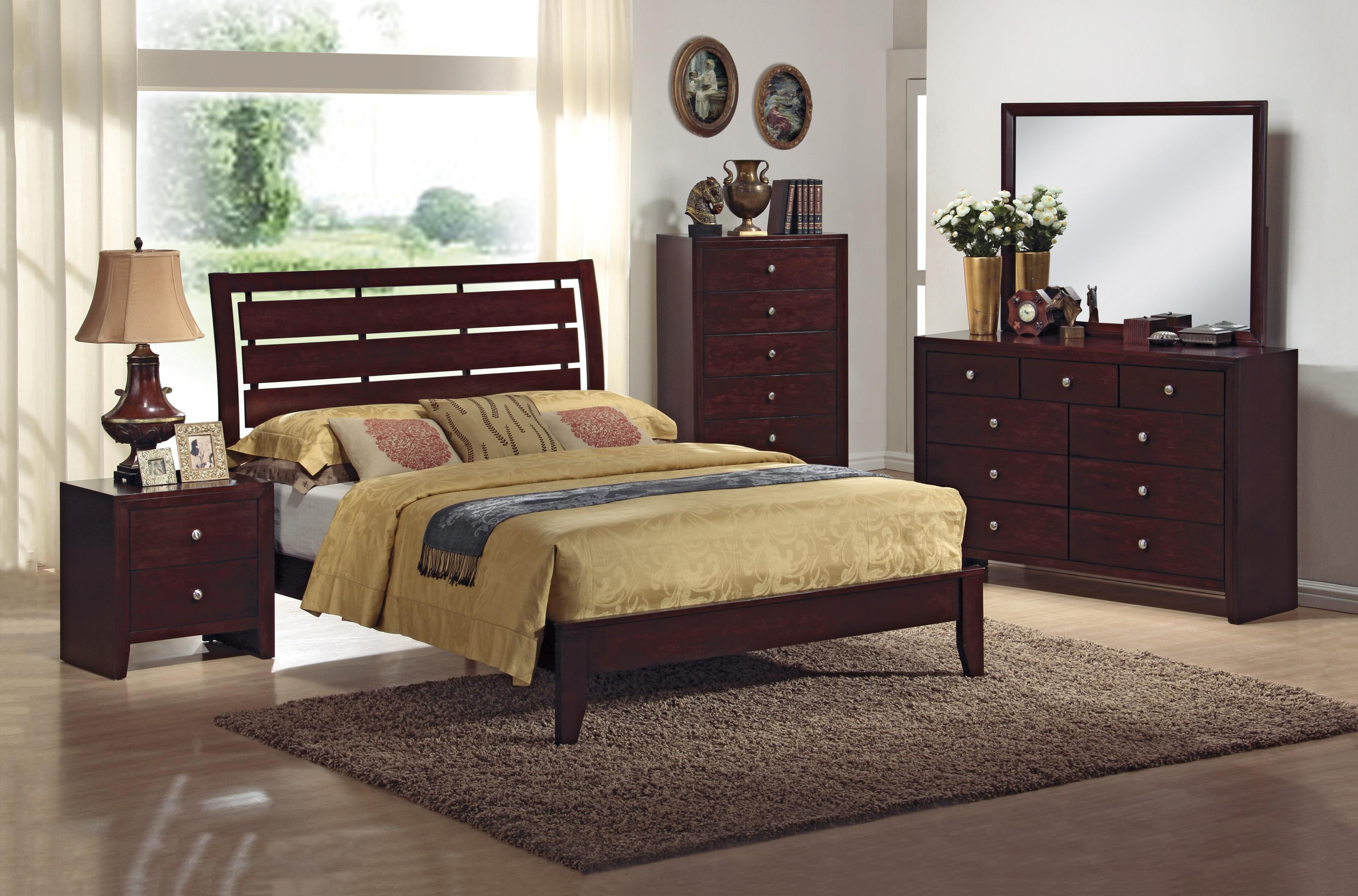 Crown Mark Evan 4 Piece Bedroom Group - Item Number: B4700 Q 4 Piece