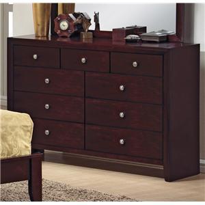 Crown Mark Evan 9 Drawer Dresser
