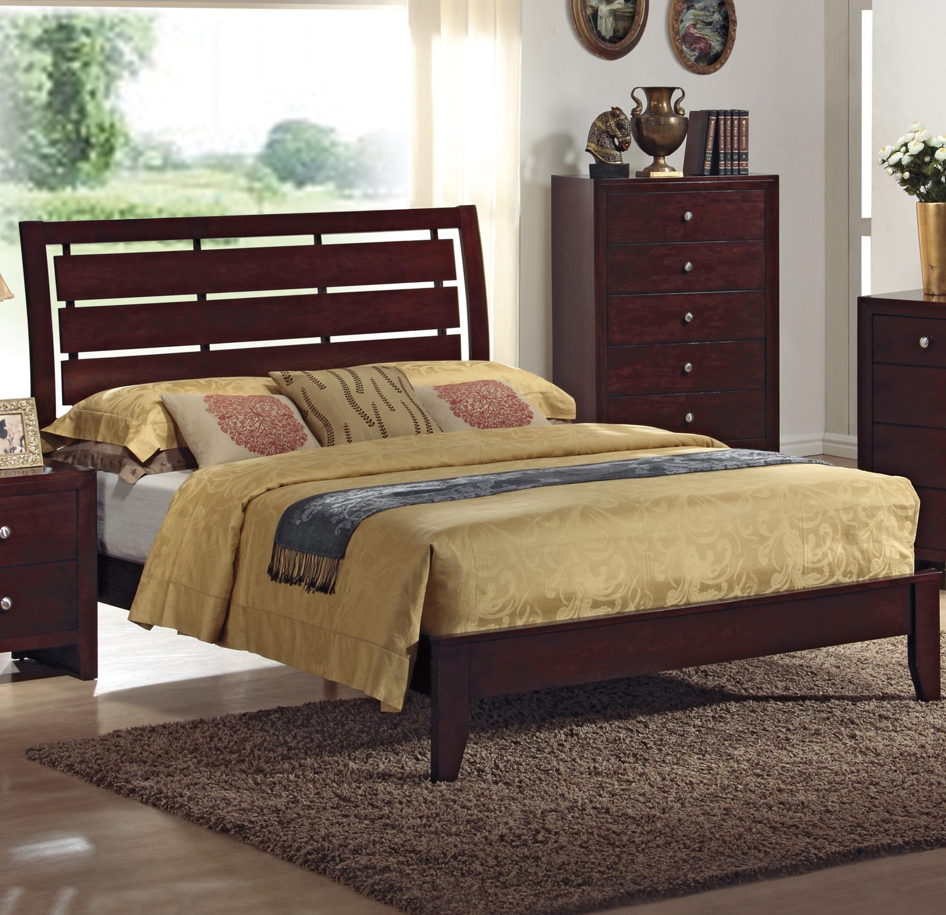 Crown Mark Evan Queen Bed - Item Number: B4700-Q-RAIL+HBFB