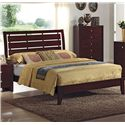 Crown Mark Evan Queen Bed with Headboard Cutouts - Bed Shown May Not Represent Size Indicated