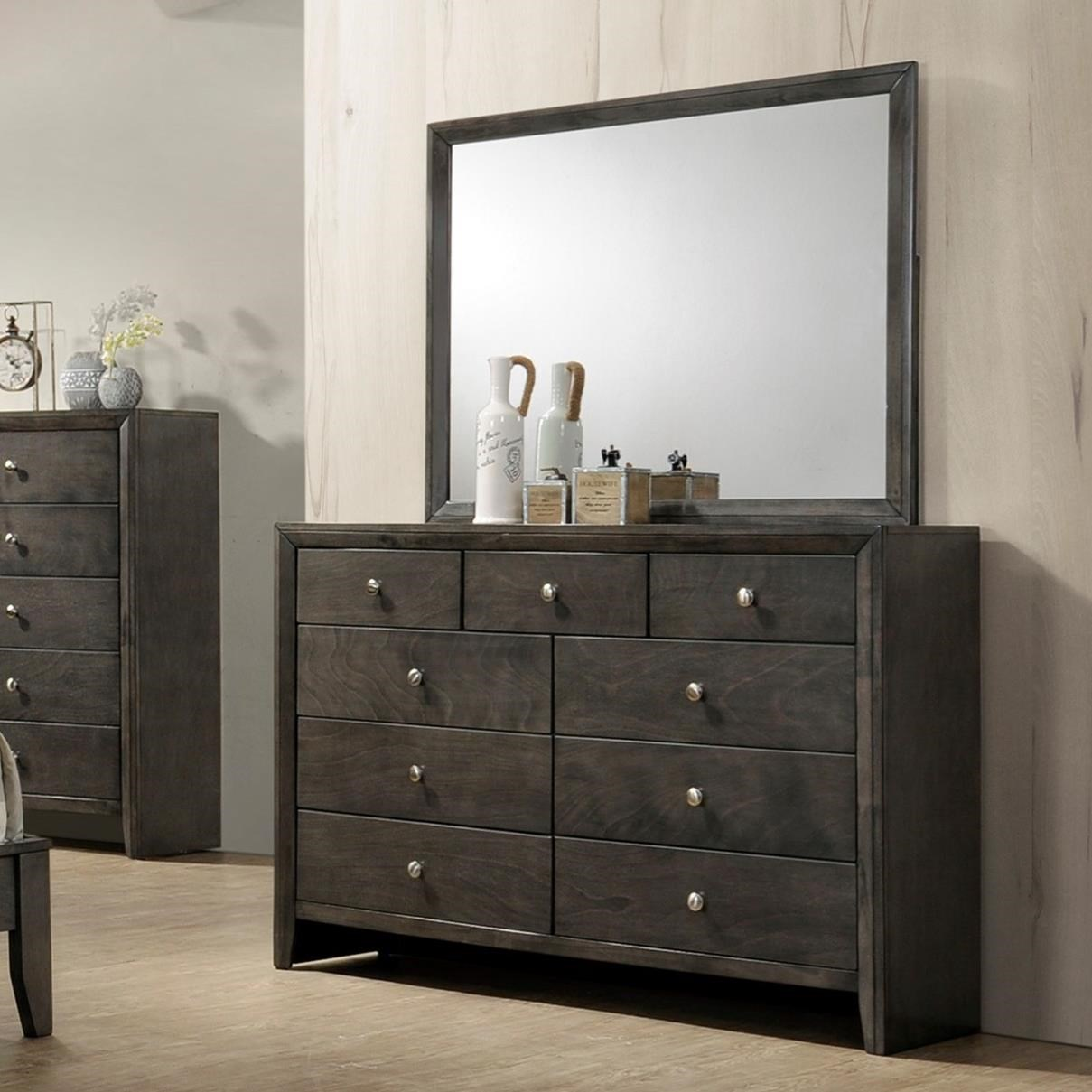 Evan Dresser and Mirror Combination by Crown Mark at Northeast Factory Direct