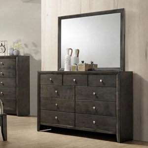 Crown Mark Evan Dresser and Mirror Combination - B4720-1+11