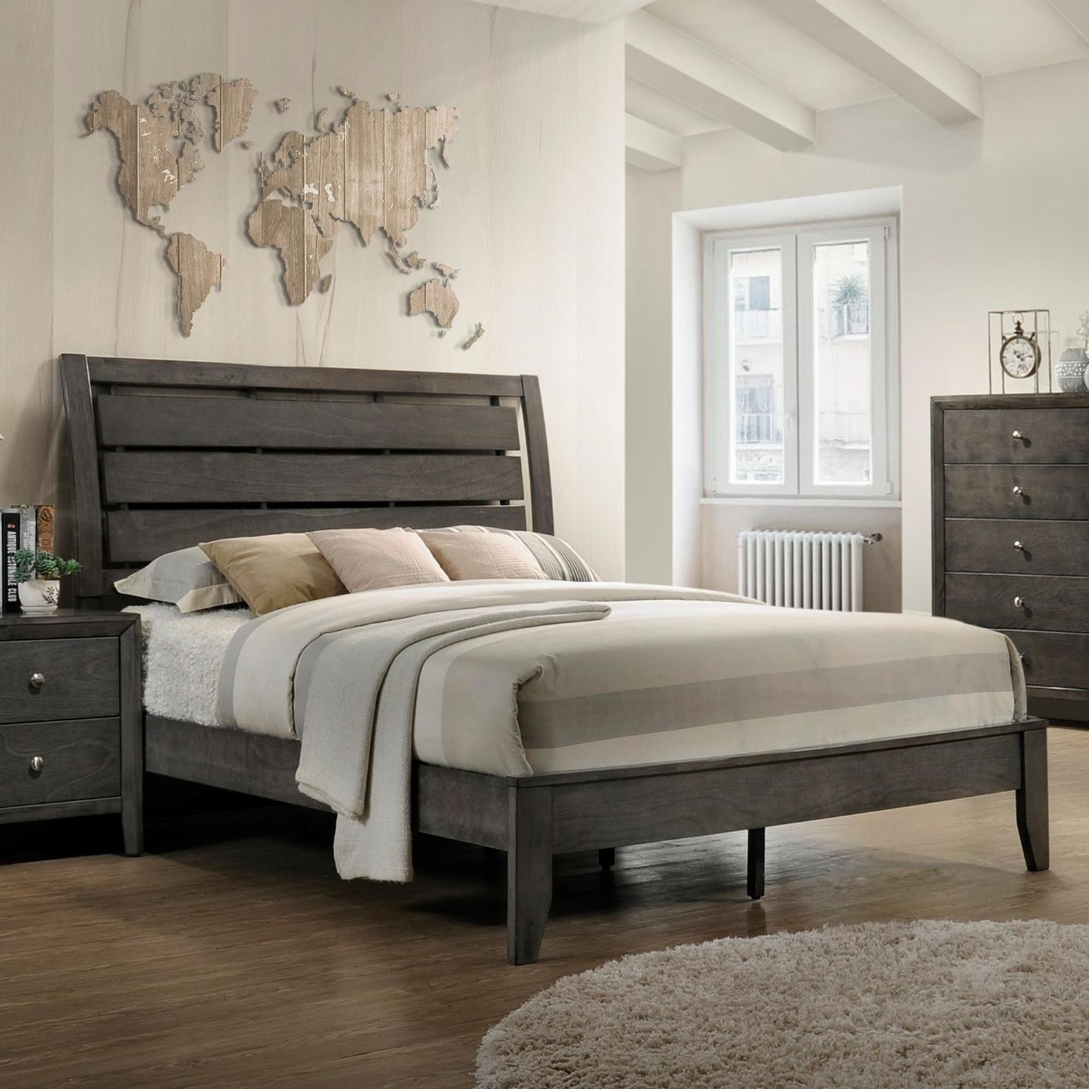 Evan King Bed  by Crown Mark at Northeast Factory Direct
