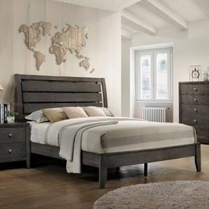 Crown Mark Evan Queen Bed - B4720-Q-HBFB+RAILS