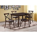 Crown Mark Farris Rectangular Table and Chair Set - Item Number: 2285T-3648+4x2285S