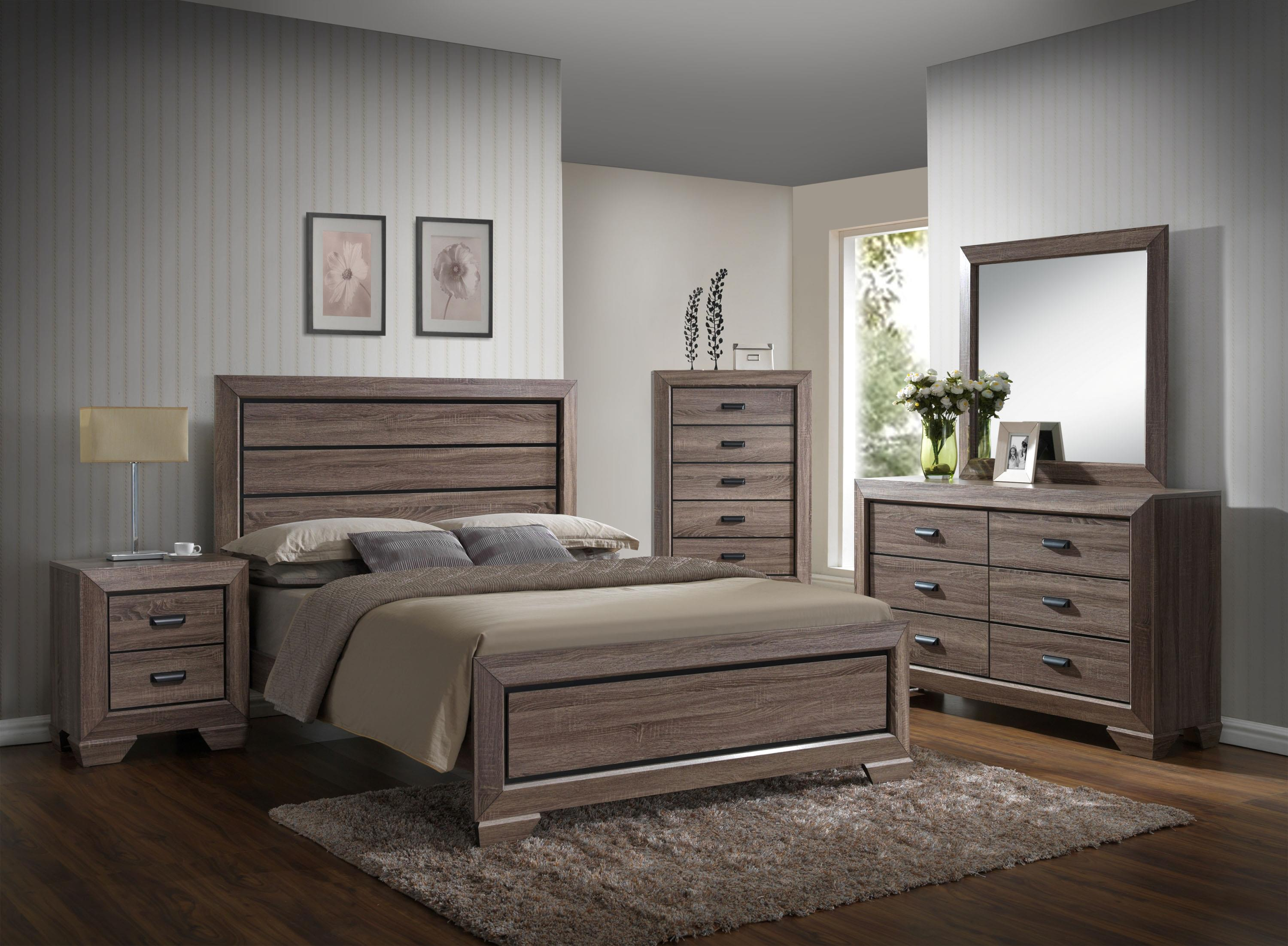 Crown Mark Farrow King Bedroom Group - Item Number: B5500 K Bedroom Group 1