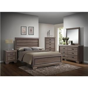 Crown Mark Farrow Twin 5 Piece Bedroom Group