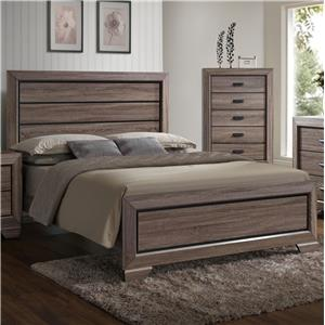 Crown Mark Farrow Queen Headboard and Footboard Bed - B5500-Q-HBFB+KQ-RAIL