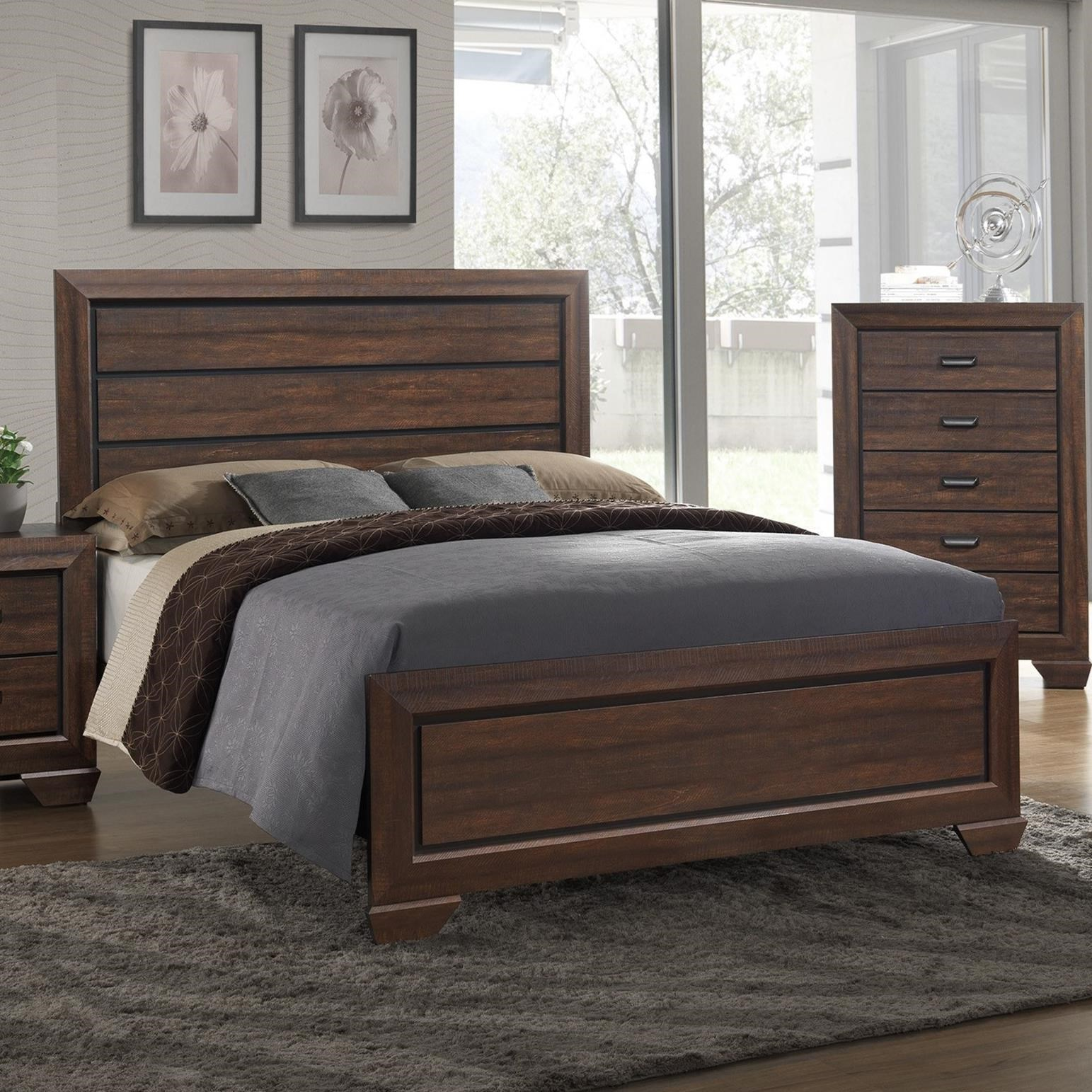 Crown Mark Farrow Queen Bedroom Group: Crown Mark Farrow Twin Headboard And Footboard Panel Bed