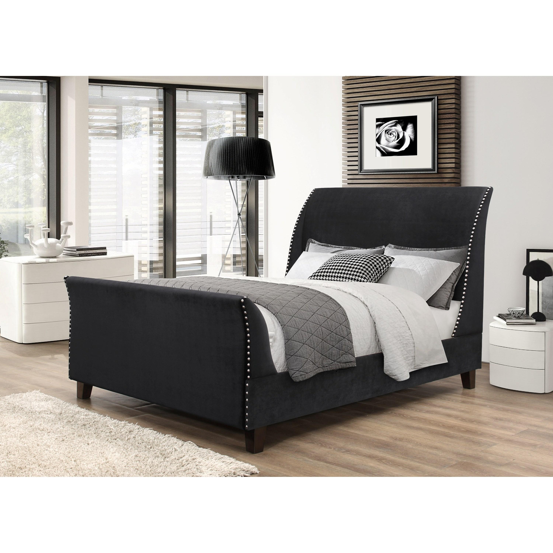 Crown Mark Felicity Upholstered Bed - Item Number: 5261-K-HB+FB+RAIL