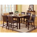 Crown Mark Ferrara 7 Piece Pub Table Set - Item Number: 2721T-5454+6x2723S-24