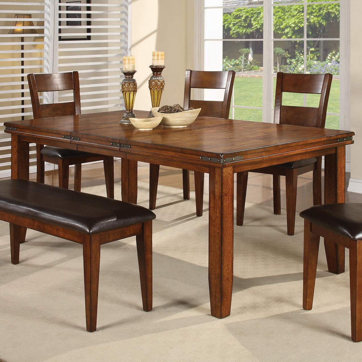 Rectangular Leg Dining Table Figaro By Crown Mark Wilcox Furniture Dining Room Table