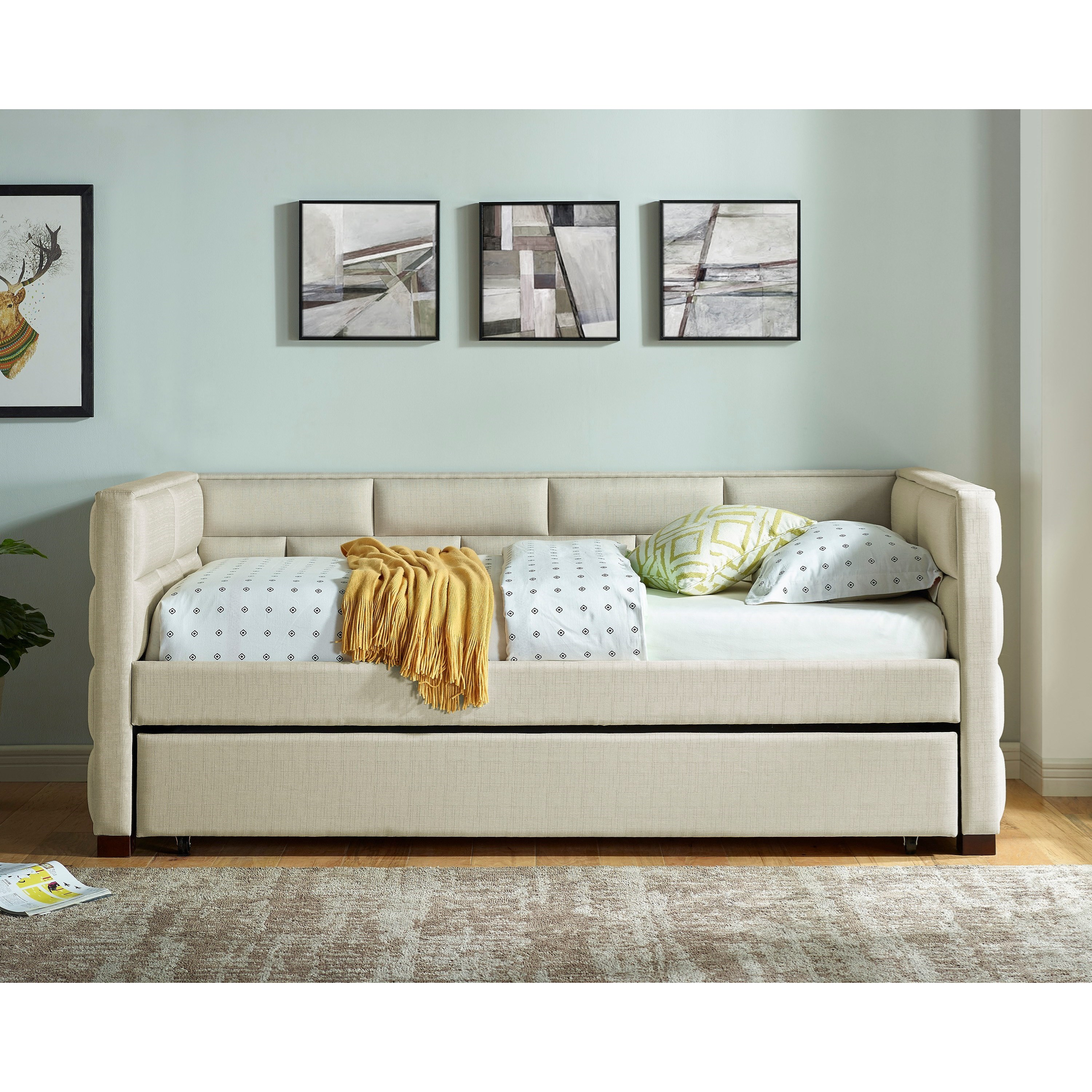 Flannery Upholstered Daybed by Crown Mark at Northeast Factory Direct