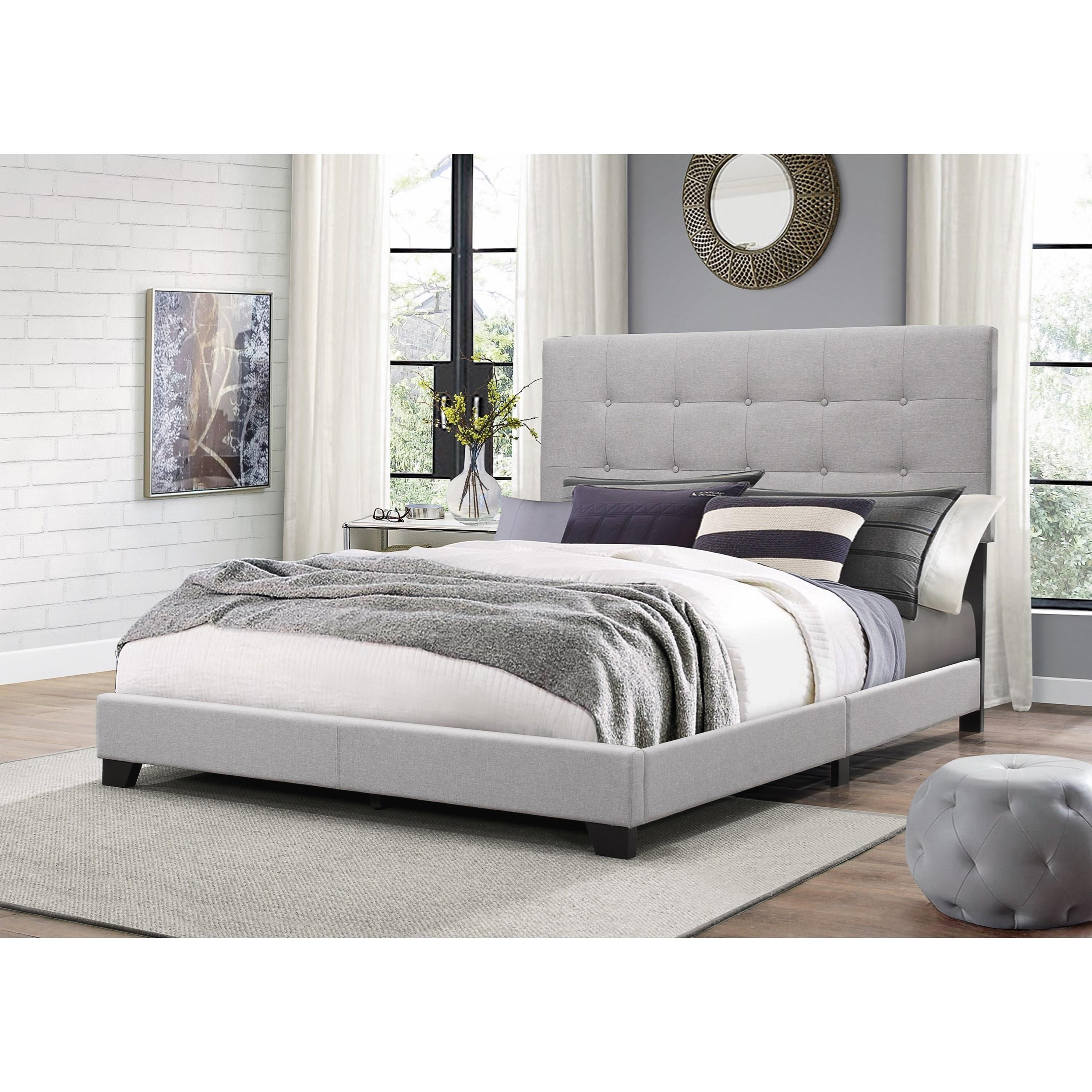 Crown Mark Florence Queen Upholstered Bed With Button Tufting Royal Furniture Upholstered Beds