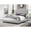Crown Mark Florence Queen Upholstered Bed - Item Number: 5270GY-Q