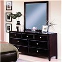 Crown Mark Flynn 7 Drawer Dresser with Mirror Combination - Item Number: B6201+B6201-1