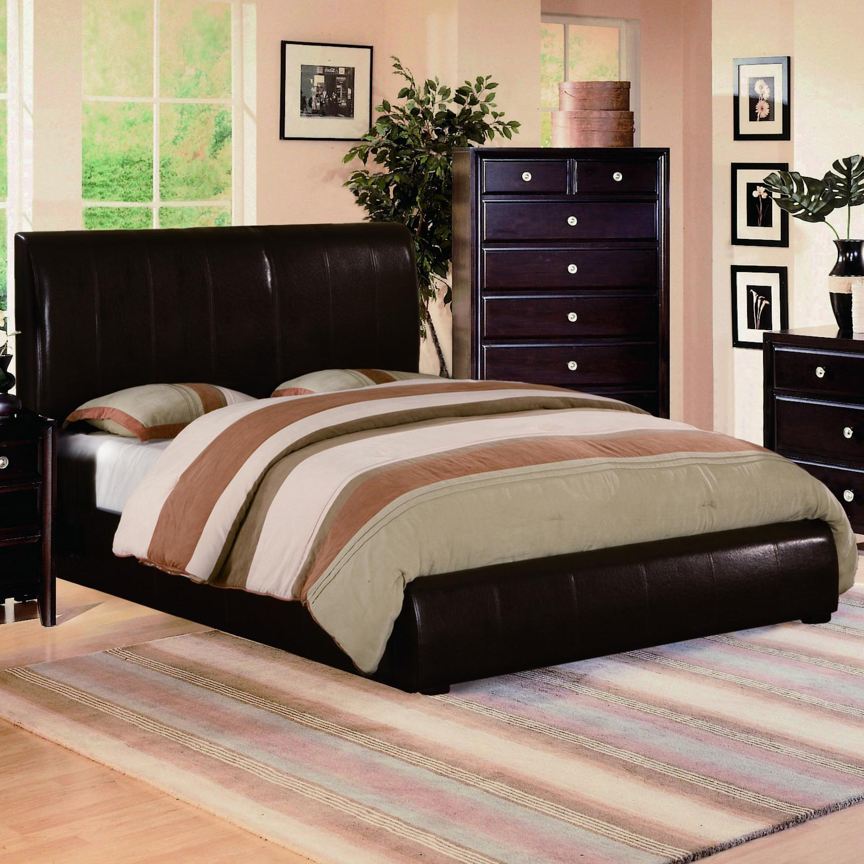 Crown Mark Flynn Queen Upholstered Platform Bed - Item Number: B6285