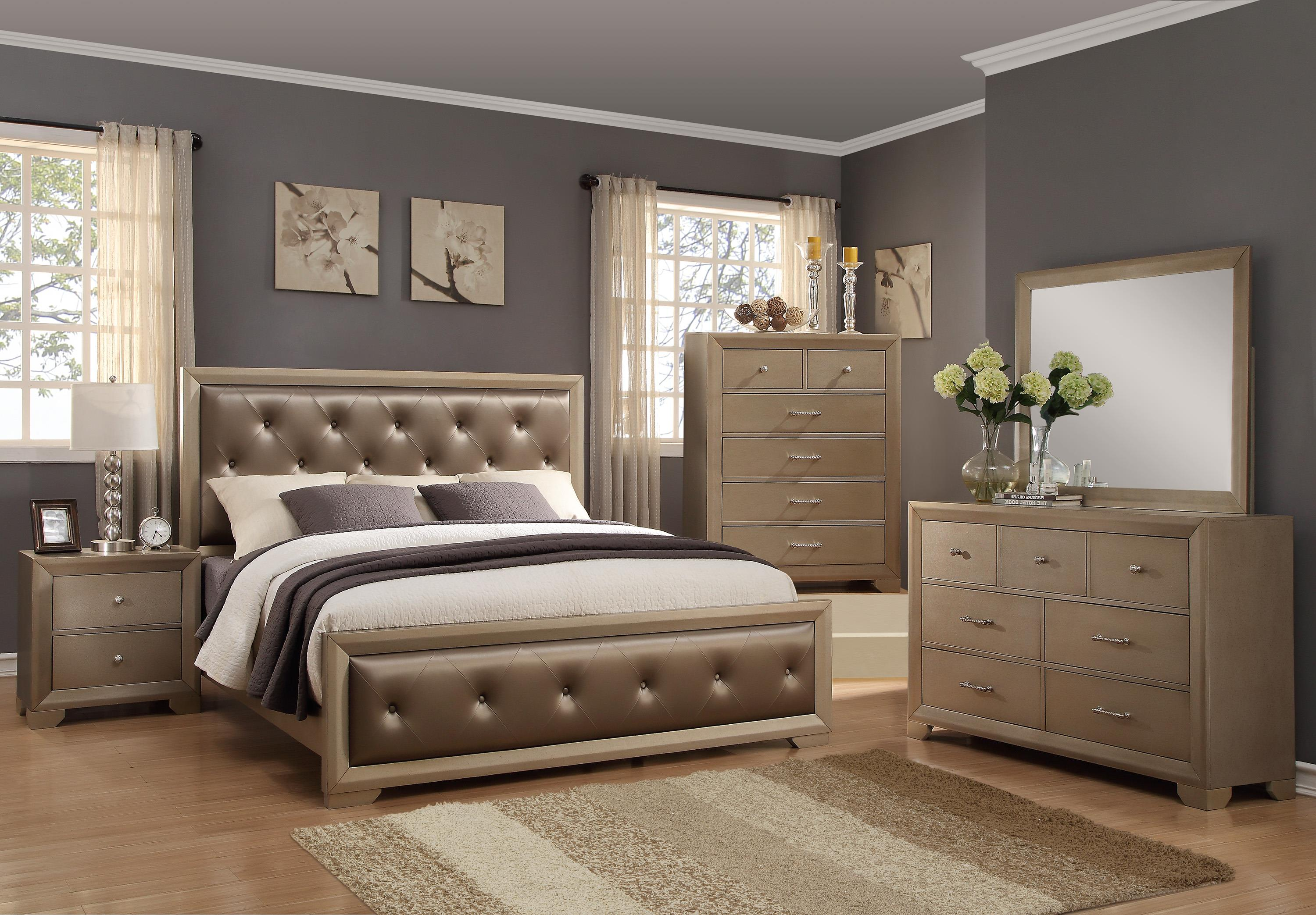 Crown Mark Fontaine Cal King Bedroom Group - Item Number: B1700 CK Bedroom Group 1