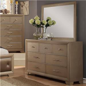 Crown Mark Fontaine Dresser and Mirror Set