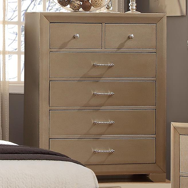 Crown Mark Fontaine Chest of Drawers - Item Number: B1700-4