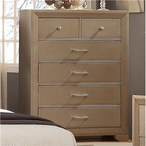 Crown Mark Fontaine Chest of Drawers