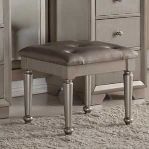Crown Mark Fontaine Vanity Stool