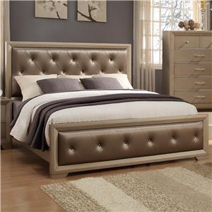 Crown Mark Fontaine Queen Upholstered Bed