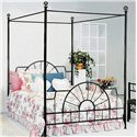 Crown Mark Foundry Queen Canopy Bed - Item Number: 4115SD-Q-SET