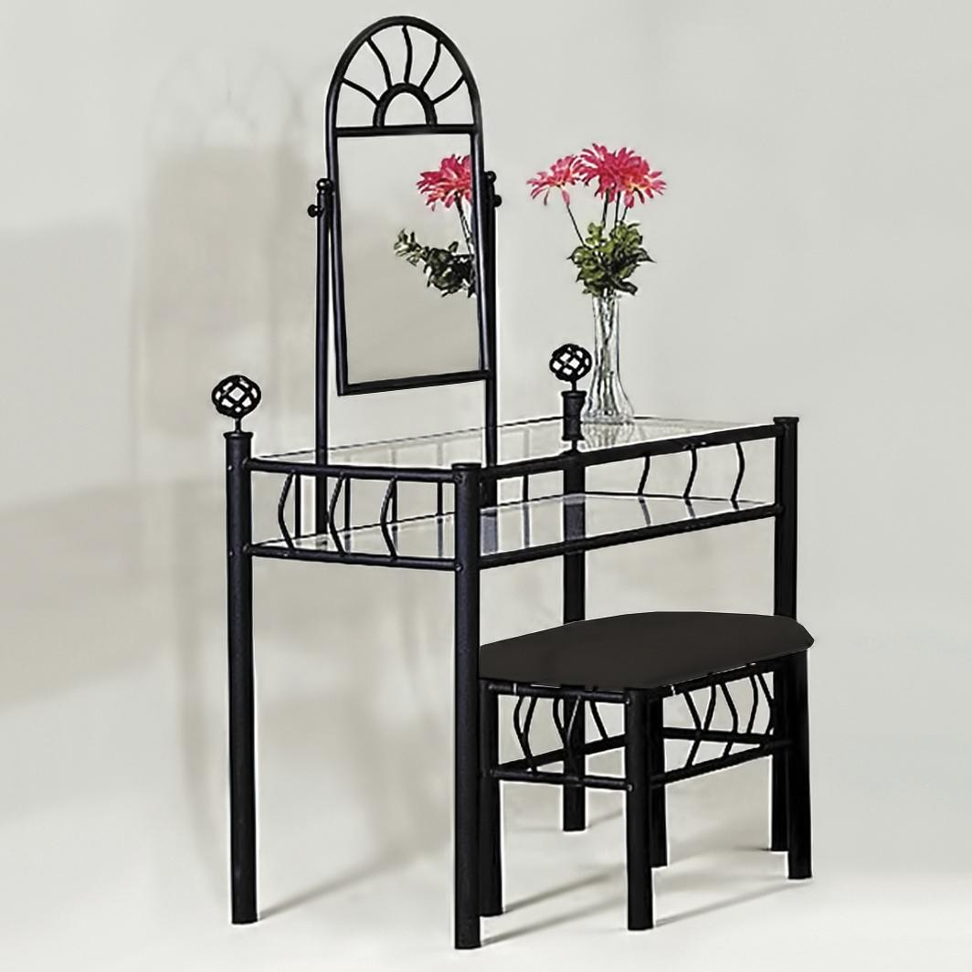 Crown Mark Foundry 4301A Vanity Set with Stool | Dunk & Bright ...